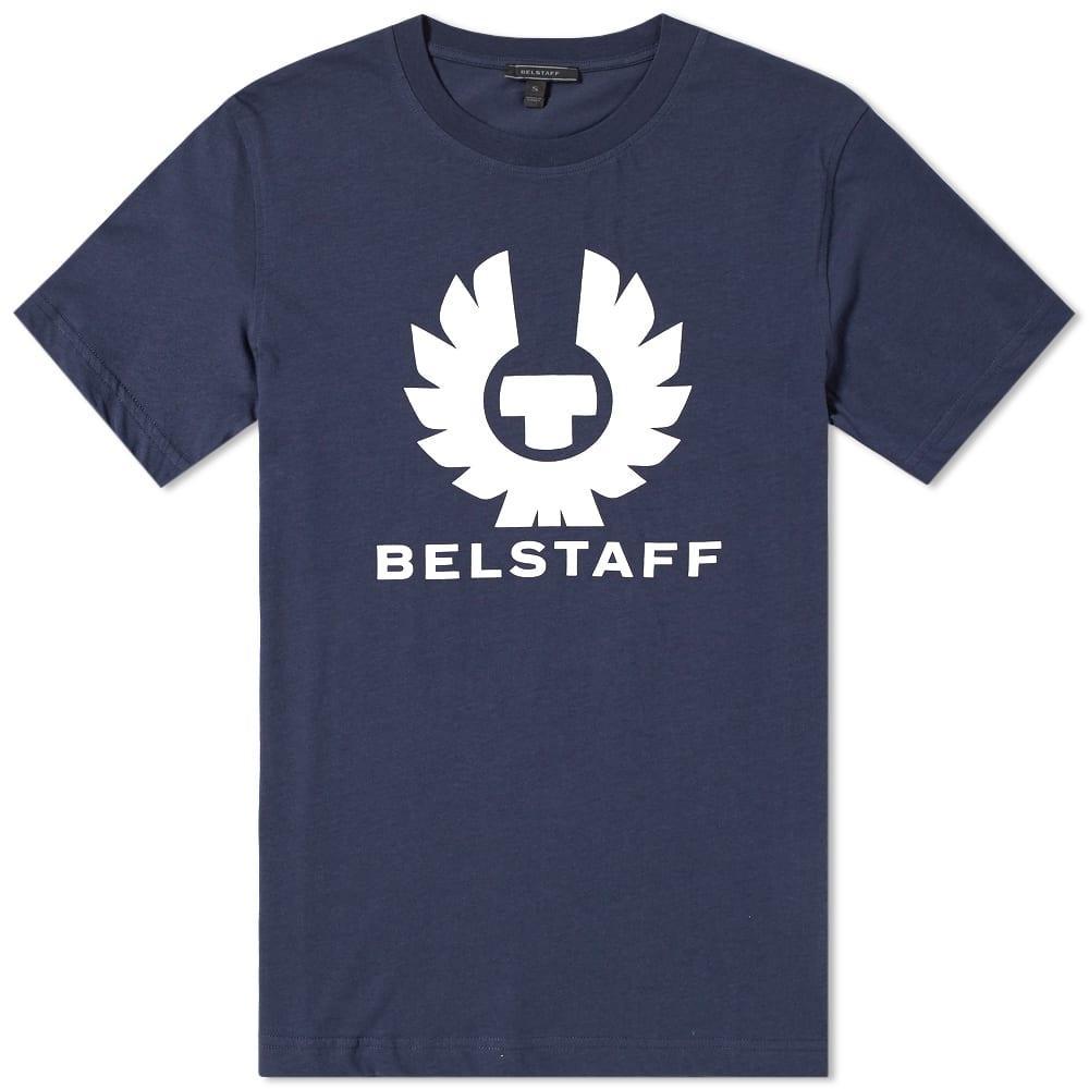 Belstaff Cranstone Logo-print Cotton T-shirt In Blue