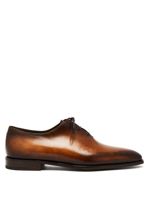 Berluti Alessandro Demesure Leather Oxford Shoes In Tonal Brown