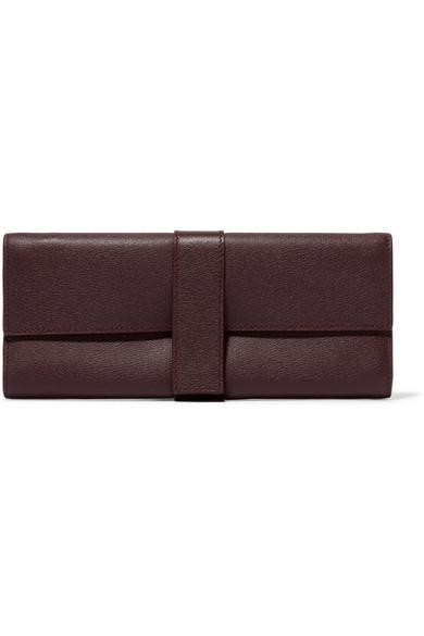 e87763907be5 Smythson Grosvenor Textured-Leather Jewelry Case In Burgundy