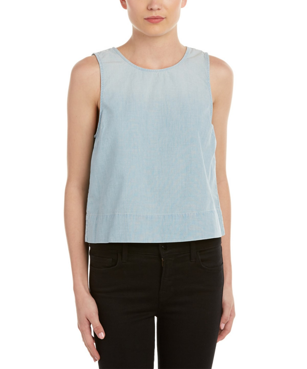 J Brand Edie Chambray Shirt In Blue