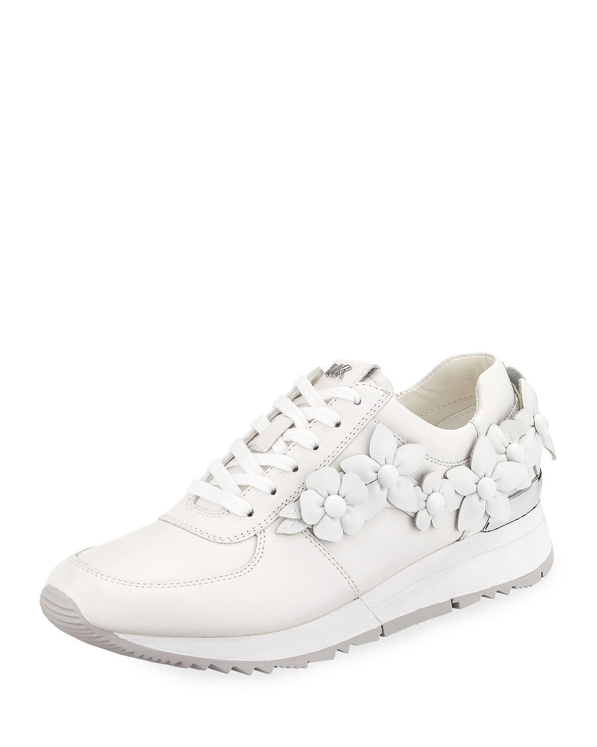 e28d8bd85b1f Michael Michael Kors Allie Floral Trainer Sneakers In White