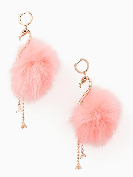 Kate Spade By The Pool Flamingo Statement Earrings