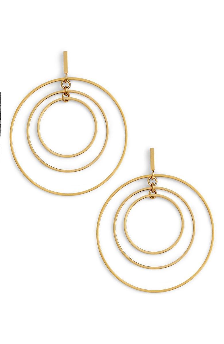 29cbd6a33 Tory Burch Tortoise Hoop Earrings - Image Of Earring