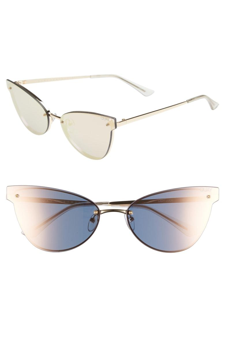 230335627ac7 Quay Women s Lady Luck Mirrored Cat Eye Sunglasses