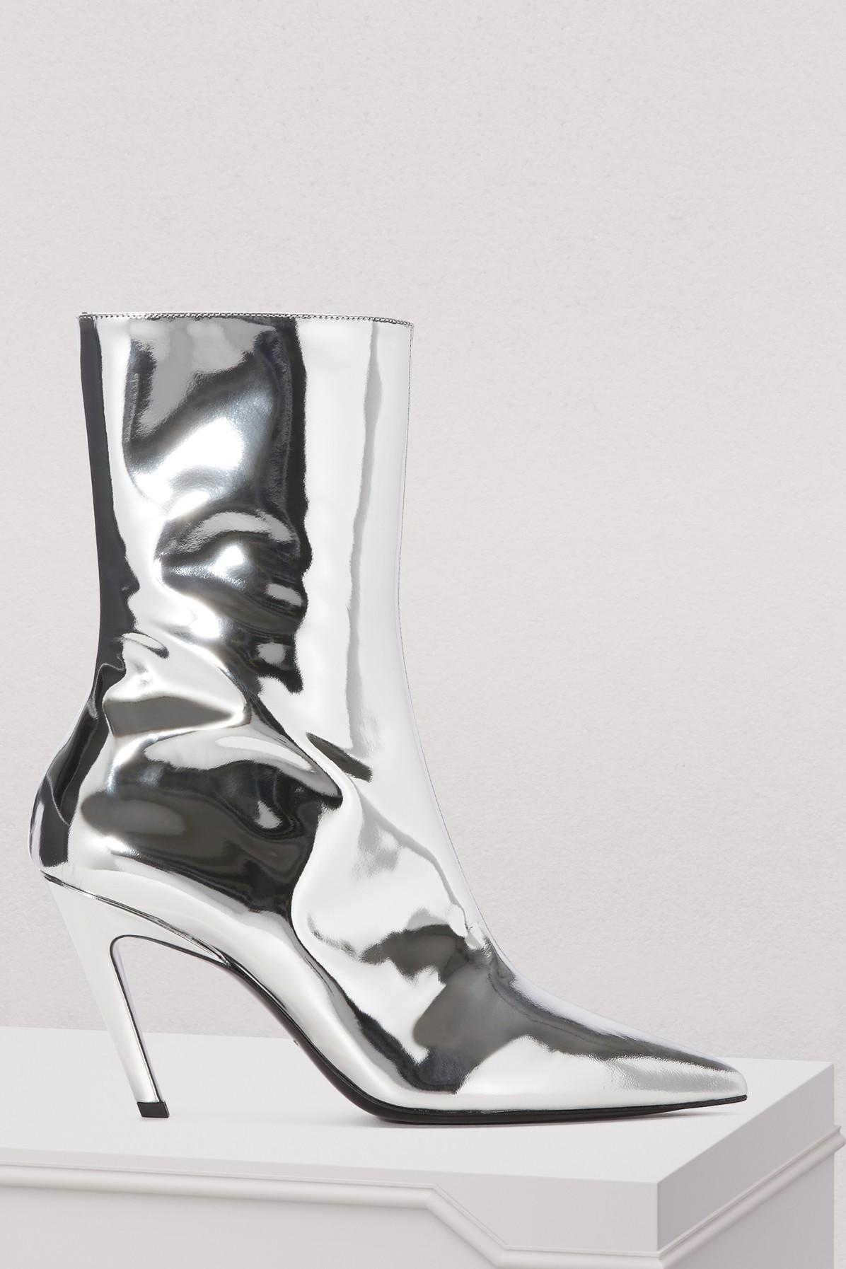 bbf7b2b07d9 Slash Silver Boots in Argent