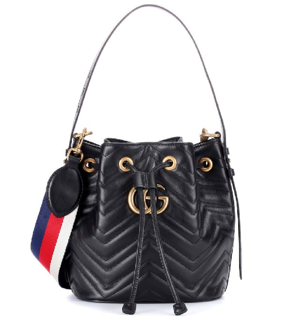 c6b719c9fcec4c Gucci Gg Marmont Quilted Leather Bucket Bag In Black | ModeSens