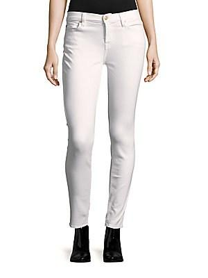 7 For All Mankind Gwenevere Skinny Ankle Jeans In White