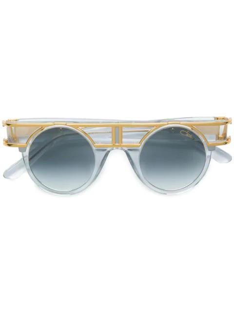Cazal Mod Framed Round Sunglasses In White