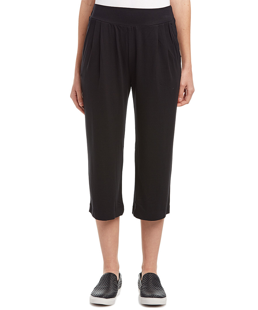 Three Dots Pleated Pant In Black