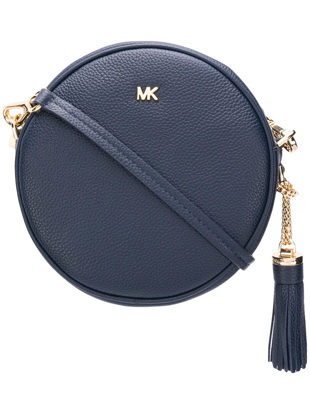 cd08f0591ec9 Michael Michael Kors Pebbled Leather Canteen Crossbody In Black ...