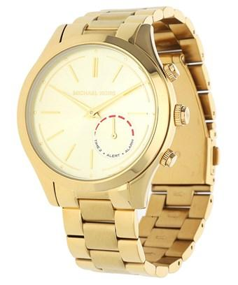 be15d9241 Michael Kors Watch Slim Runway Hybrid Smartwatch Gold Mkt4002 | ModeSens