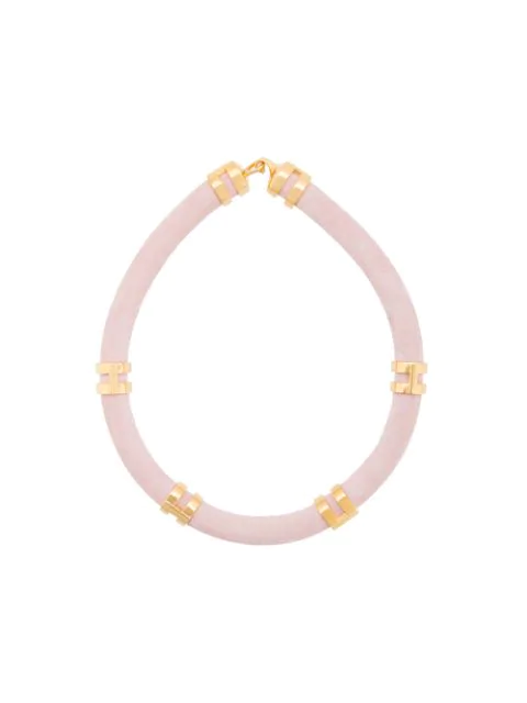 Lizzie Fortunato Double Take Necklace In Pink