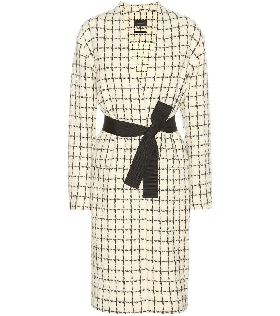 Isabel Marant Magli Virgin Wool-blend Coat In White