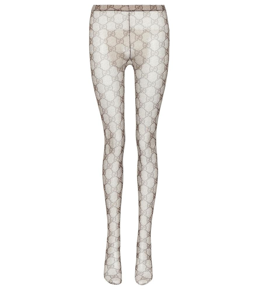 d5dfc502d29 Gucci Gg Patterned Tights In Brown