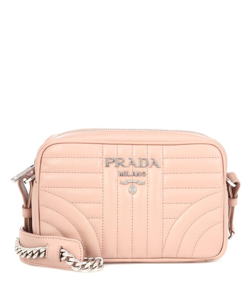 88ed924b824e Prada Diagramme Leather Shoulder Bag In Beige | ModeSens