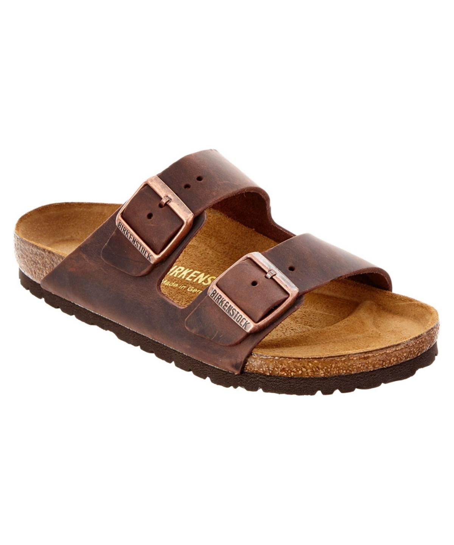 Birkenstock Womens Arizona Two-strap Narrow Synthetic Sandals In Dark Brown