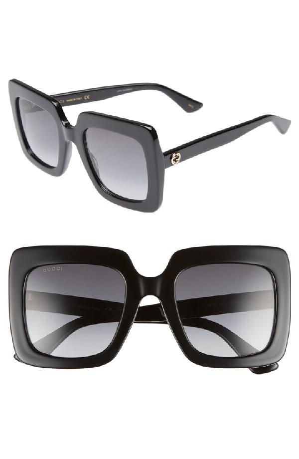 Gucci Square Acetate Gradient Sunglasses In Black