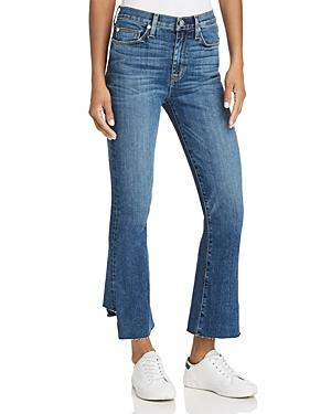 1ca552df1be Hudson Holly High-Rise Cropped Kick-Flare Jeans In Medium Blue ...