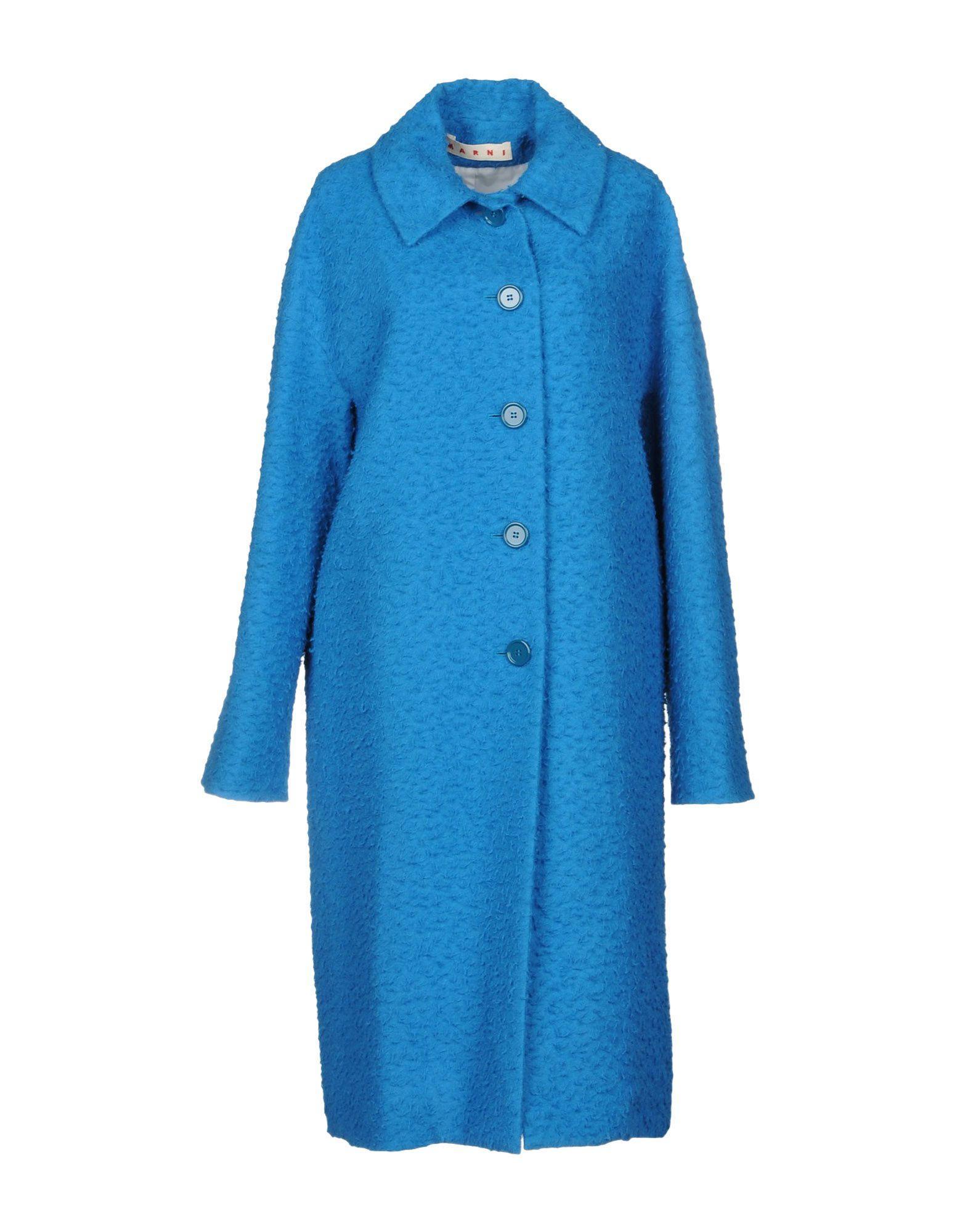 Marni Coat In Azure
