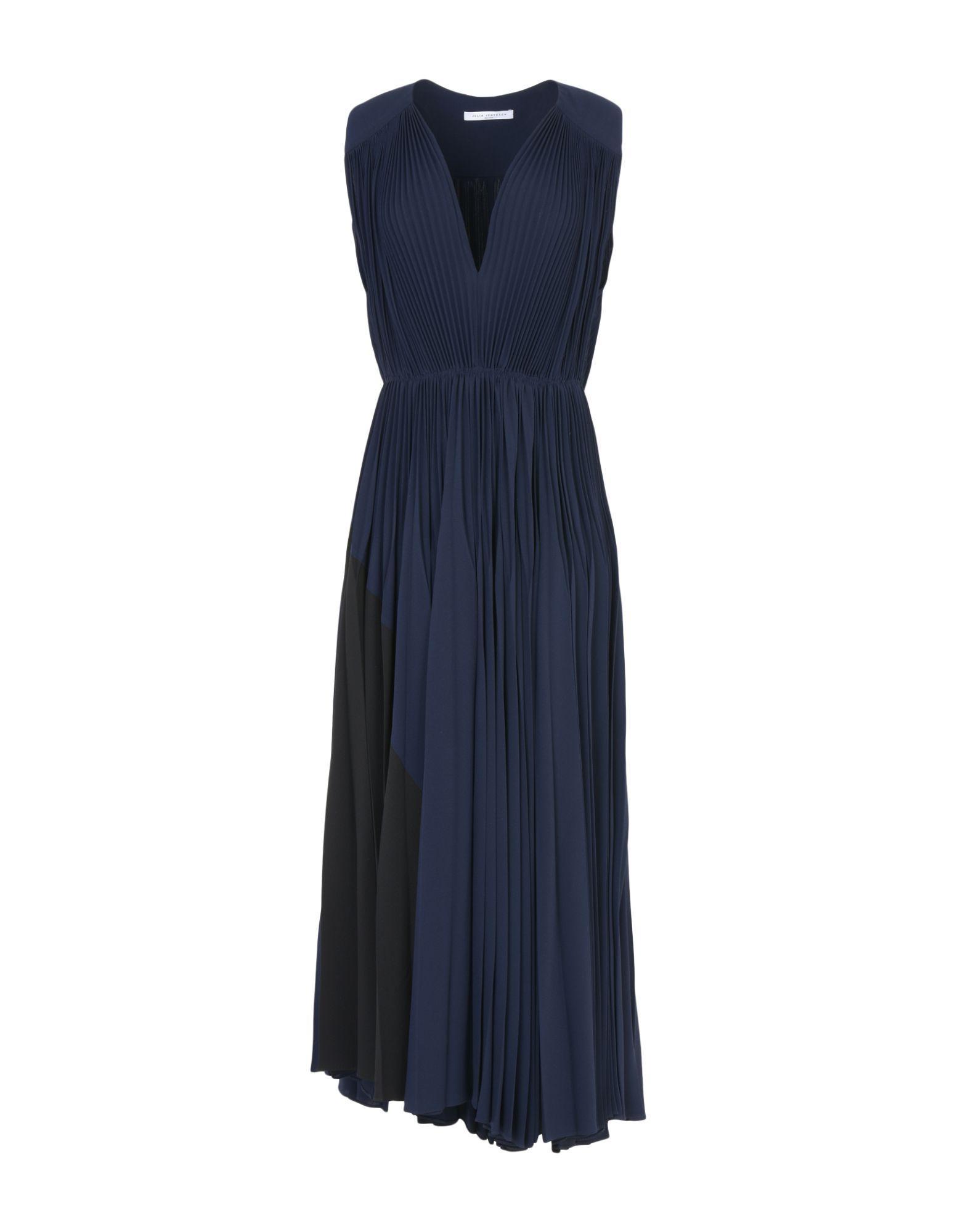 Julia Jentzsch Long Dress In Dark Blue