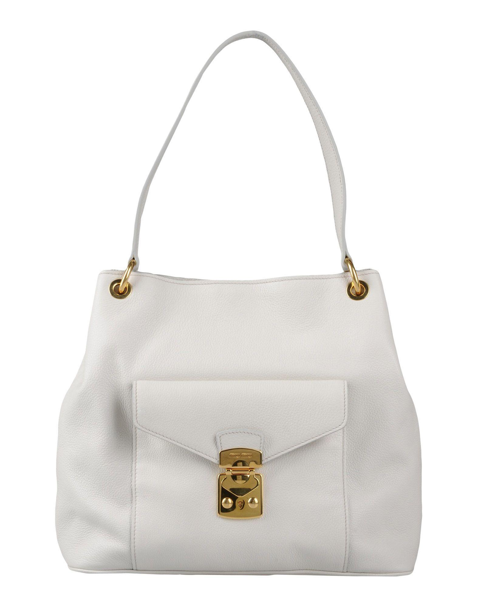 72386a9d0ab9 Miu Miu Handbag In White