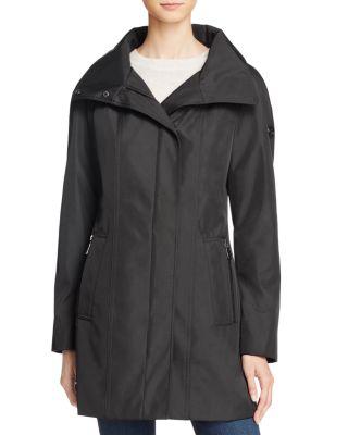 Calvin Klein Rain Anorak In Black