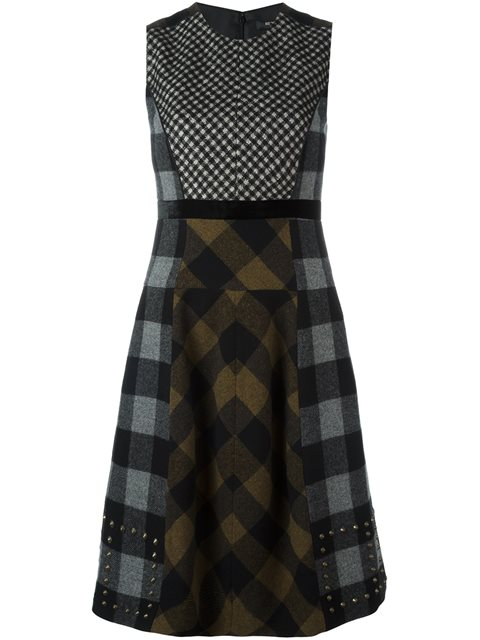 Etro Checked Patchwork Dress In 2