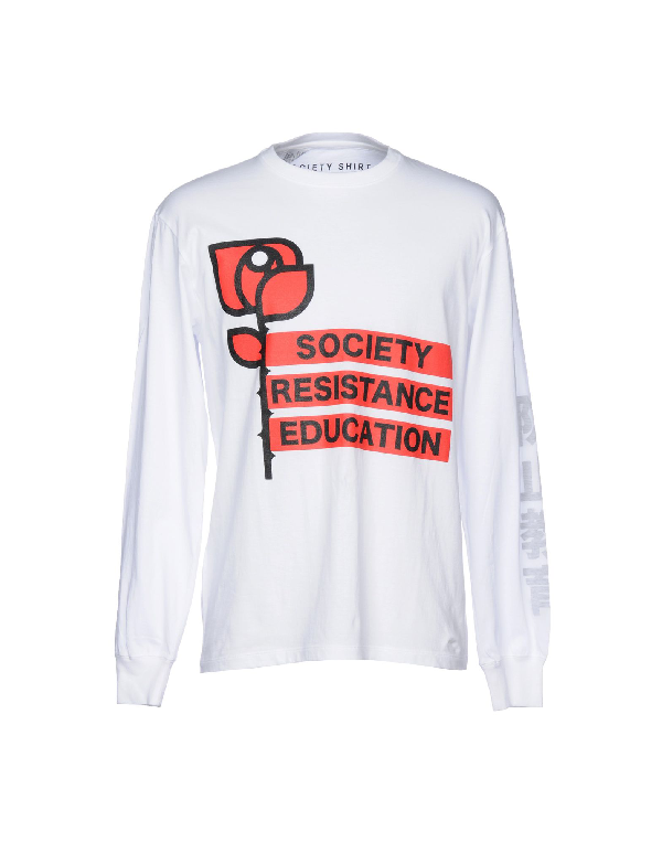 Society T-shirts In White