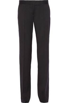 Stella Mccartney Woman Jasmine Wool-Twill Wide-Leg Pants Black