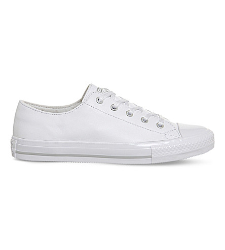 Chuck Taylor All Star Gemma Leather Trainers In White Mouse