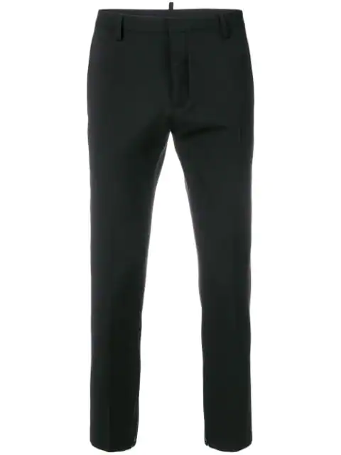 Dsquared2 Cropped Flare Trousers In Black