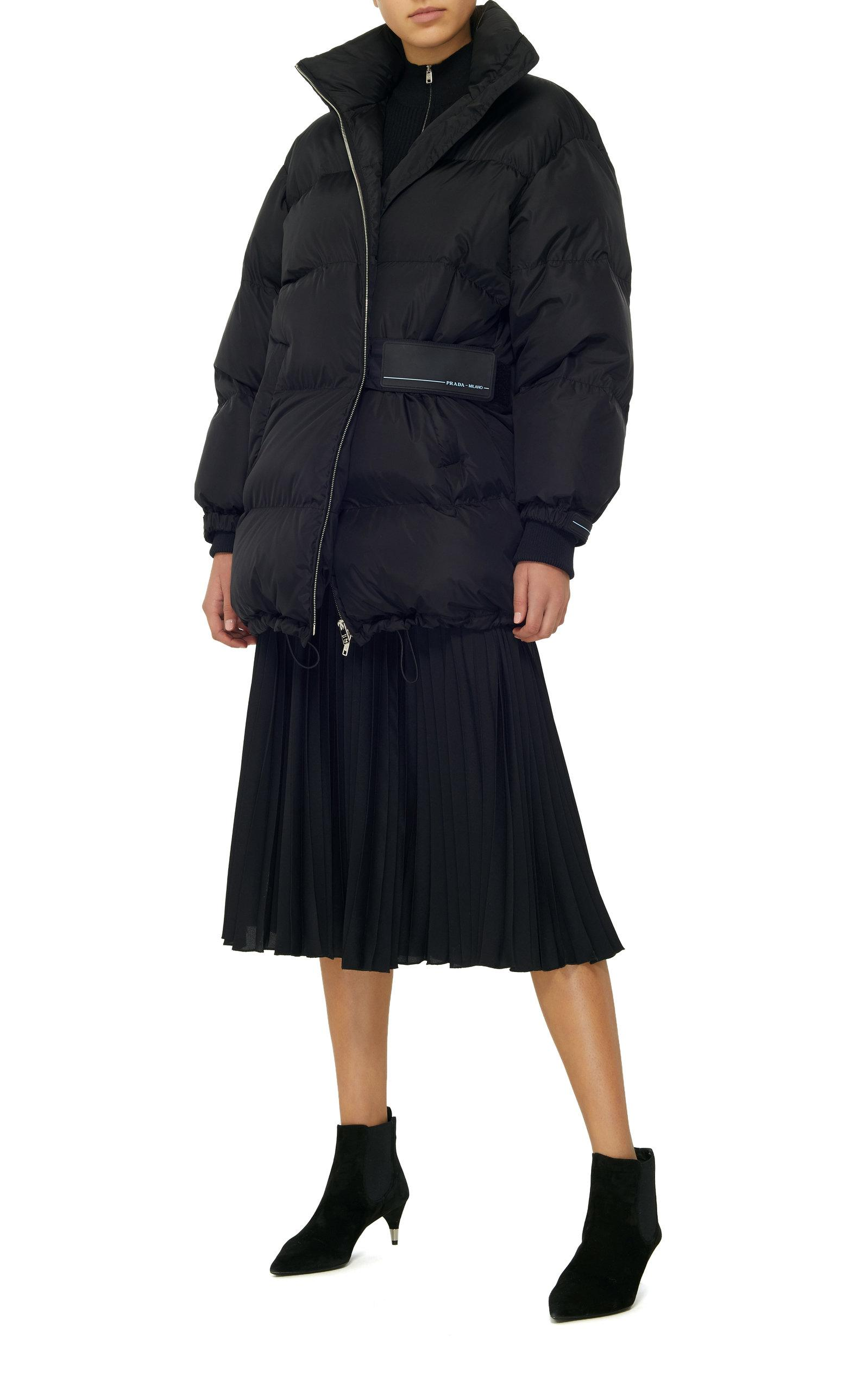 6a62f23a5 Quilted Shell Puffer Coat in Black