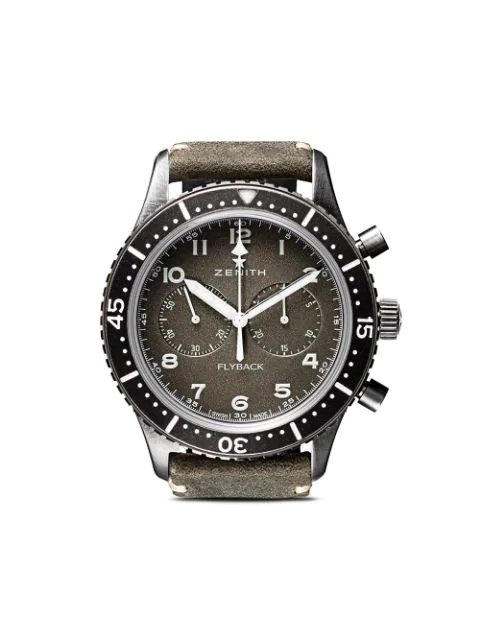 Zenith Cronometro Tipo Cp-2 Flyback 43mm In C773 Slate Grey B Green Oily