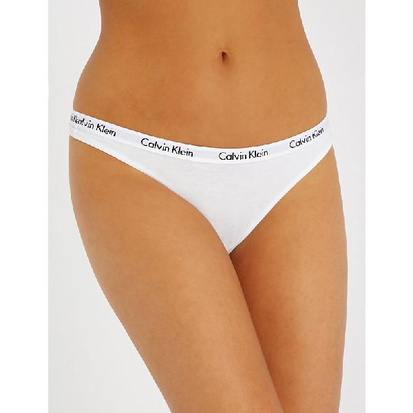 Calvin Klein Women's Black Carousel Jersey Thong