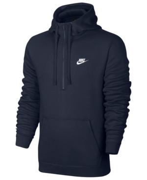 Nike Men's Half-Zip Hoodie In Dk Obsidian
