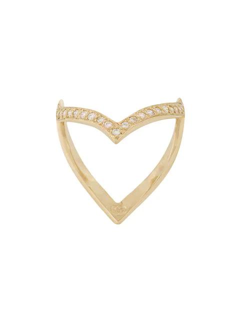 Natasha Schweitzer 'en Pointe' Ring Mit Diamanten In Metallic