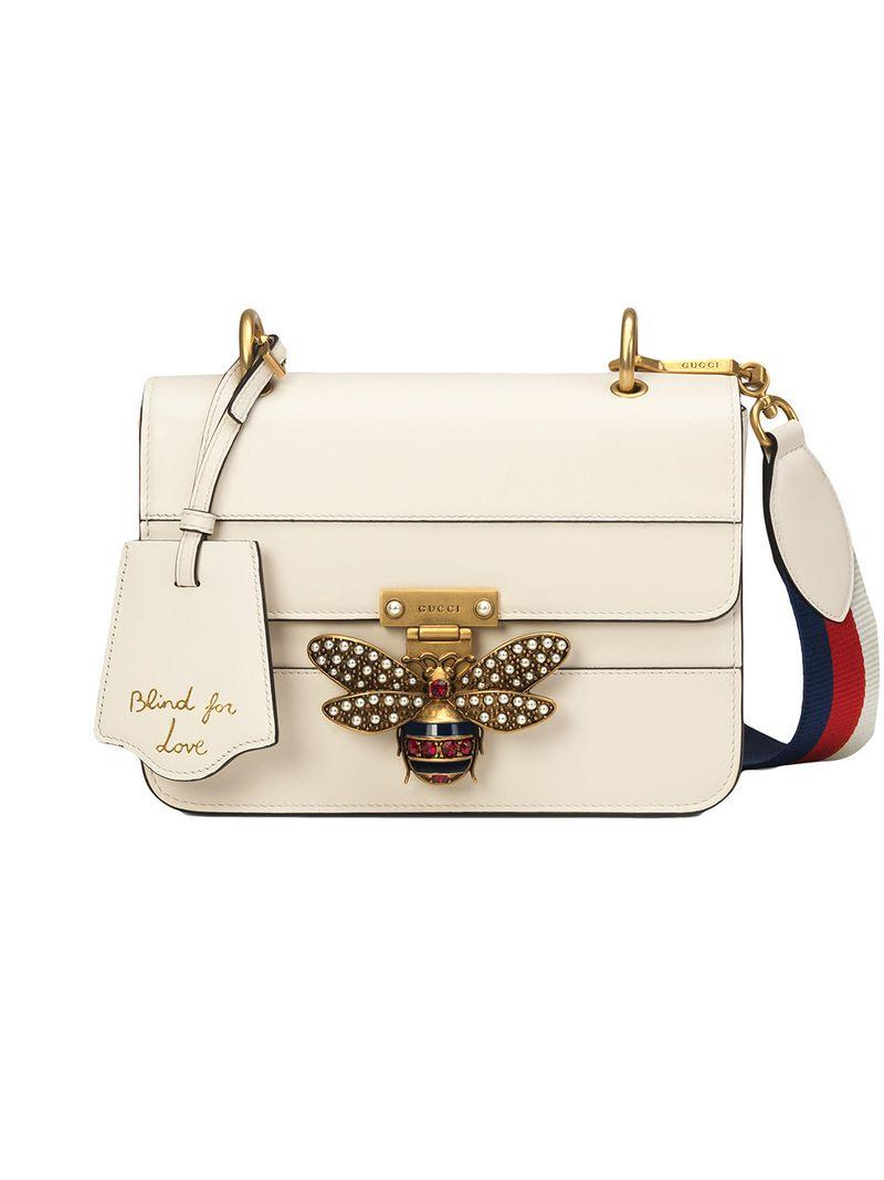 f7fcdabe8 Gucci Queen Margaret Small Shoulder Bag In White | ModeSens