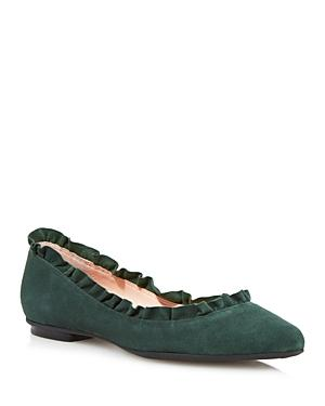 ac2bc2d24c29 Dainty ruffles trim the topline of a classic ballet flat. Style Name  Kate  Spade New York Nicole Flat (Women). Style Number  5486639. Available in  stores.