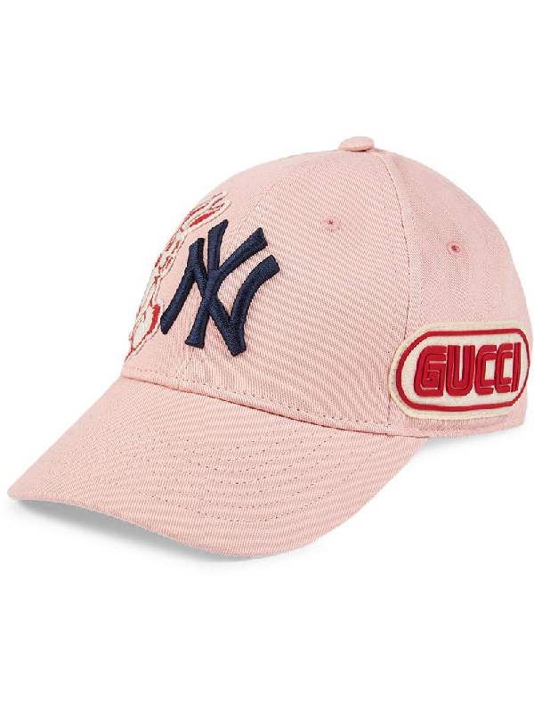 51b75e1806b8f Gucci Baseball Cap With Ny Yankees™ Patch In Pink   Purple
