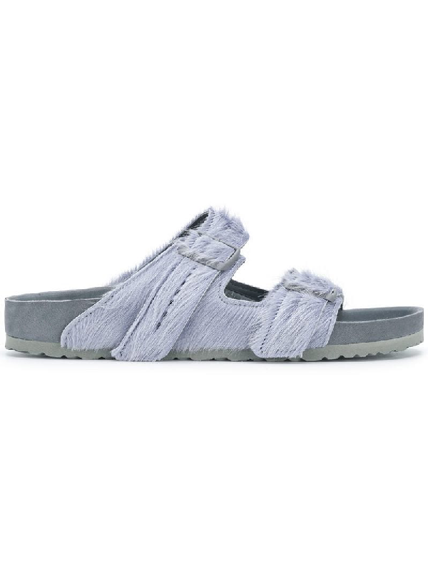 7391545d3e Rick Owens X Birkenstock Arizona Calf-Hair Sandals In Grey | ModeSens