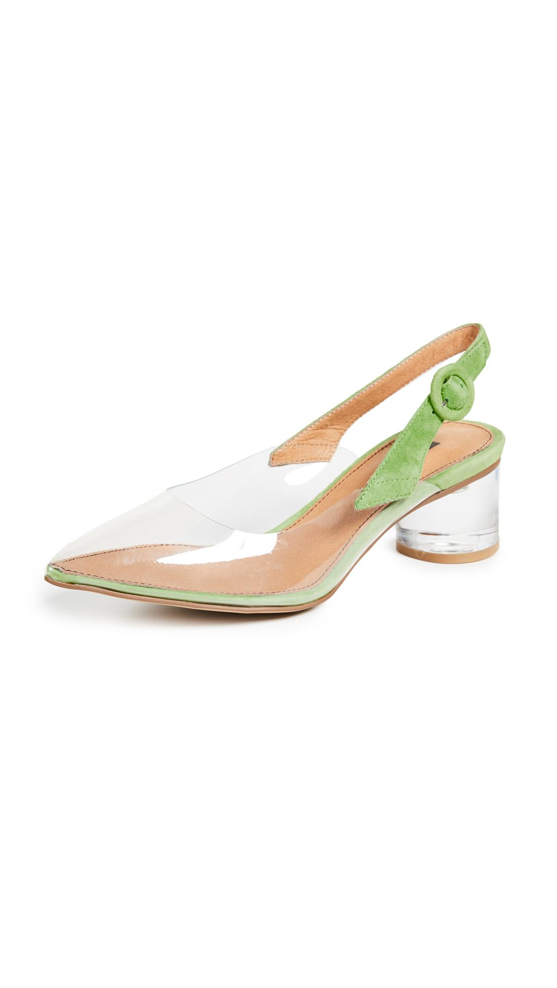 fef46ebe74 Matiko Zuma Block Heel Pumps In Clear/Green | ModeSens