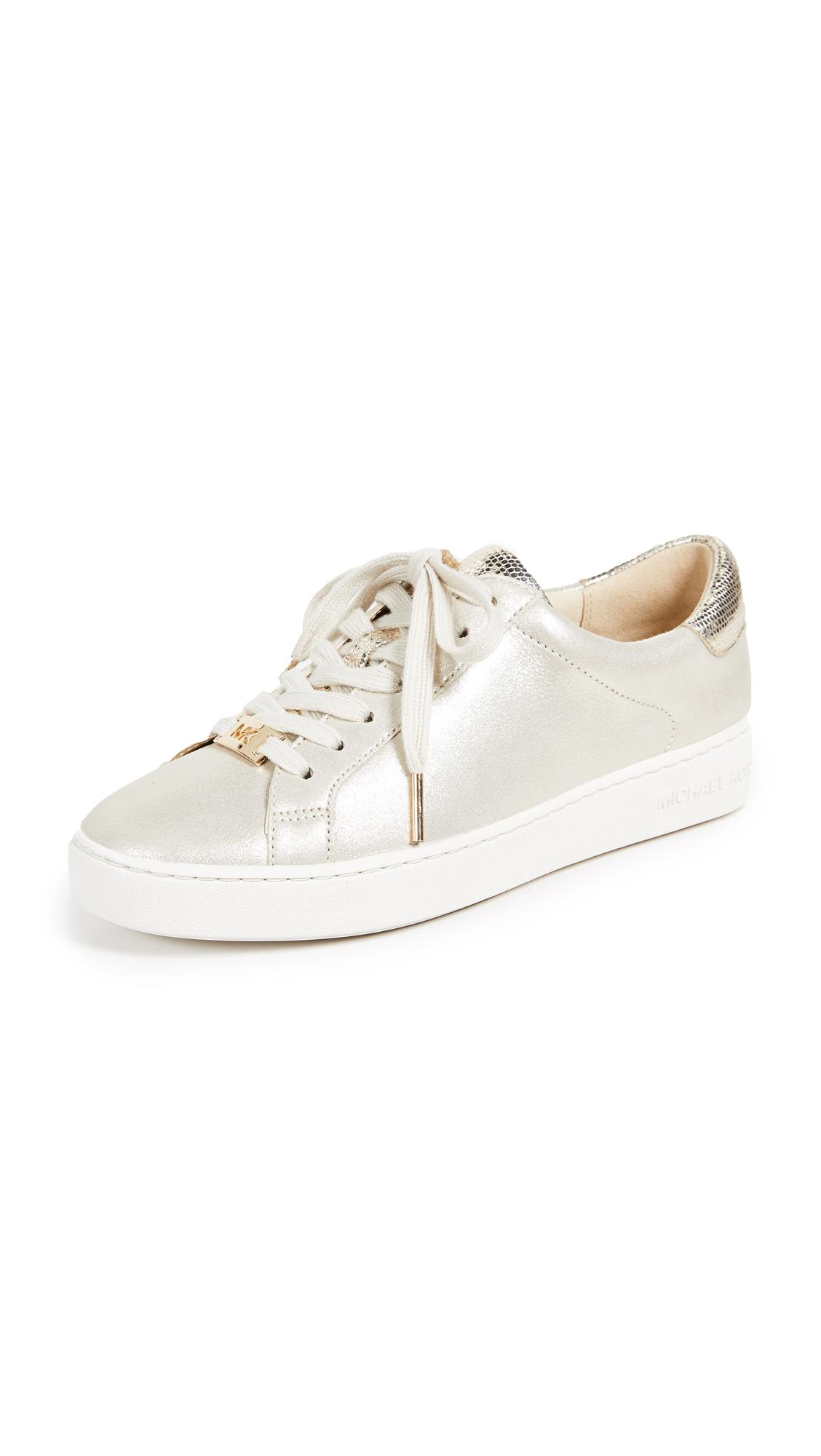 2e9a621f69ff Michael Michael Kors Irving Lace Up Sneakers In Champagne