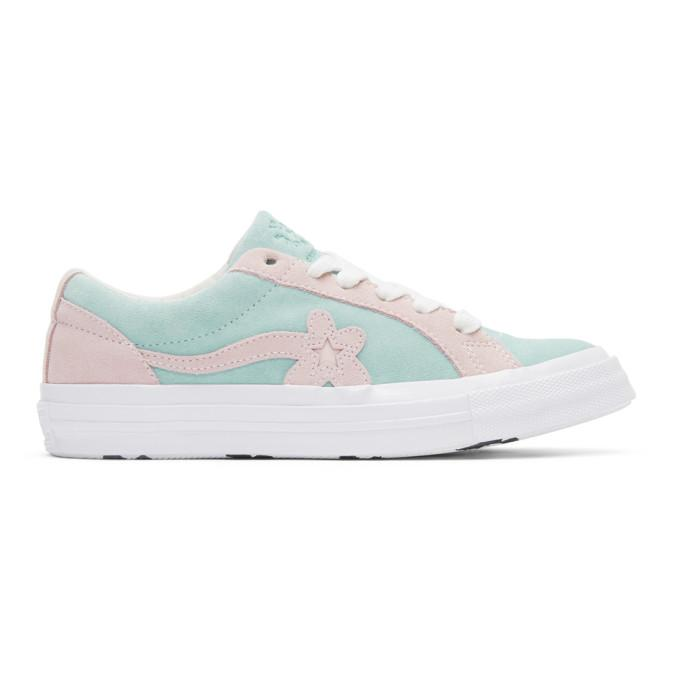 6ee31111978d Converse Blue And Pink Golf Le Fleur  Edition Golf 6.1 One Star Sneakers
