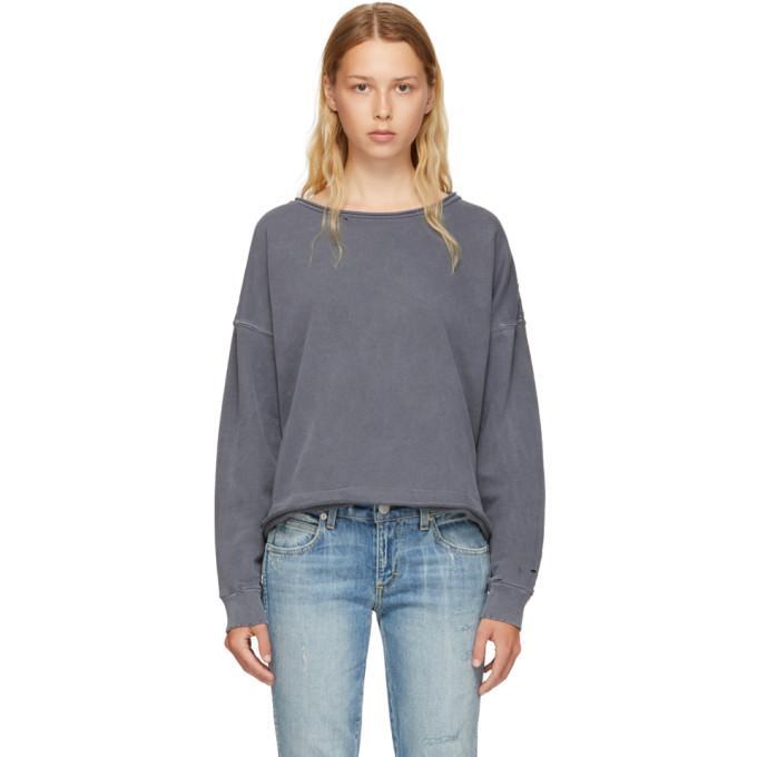 Amo Grey Boxy Sweatshirt In 062 Black