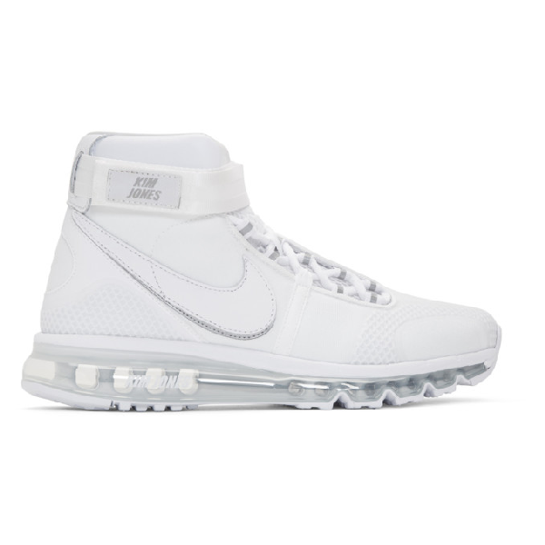 buy online 6bd84 d4950 Nike Air Max 360 Kim Jones High Top Sneakers In White