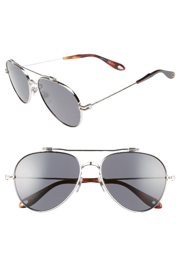 cff517e0b Givenchy 58Mm Polarized Aviator Sunglasses - Palladium   ModeSens