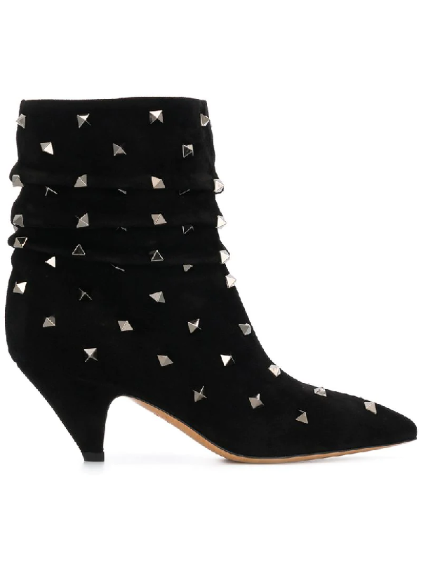 2e12bff0ac7eb Valentino Rockstud Detailed Ankle Boots In Black | ModeSens