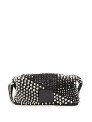 29a5b6ca62 Giuseppe Zanotti Studded Leather Toiletry Bag In Black