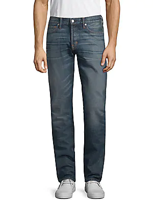 Tom Ford Vintage Straight Cotton Jeans In Blue