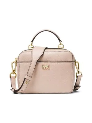 3664ea3c9ae3 Michael Michael Kors Mott Pebbled Leather Crossbody Bg - Pink In Soft Pink